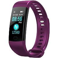 Y5 Fitness Tracker avec Moniteur de Sommeil Moniteur Couleur écran Bluetooth Bluetooth Smart Watch activité Tracker Compteur de Pas étanche et Compteur de Calories pour Android iOS (Violet.)