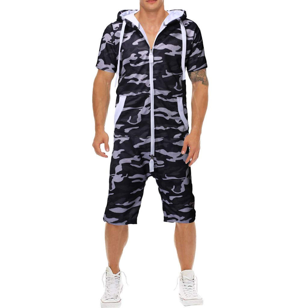 2019 Shirts Men's Unisex Jumpsuit One-Piece Garment Non Footed Pajama Playsuit Blouse Hoodie