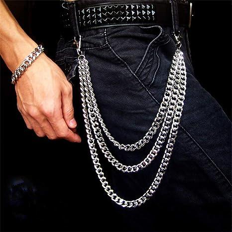 BDM Lomire® Cadena para Pantalon Hombres, Hip Hop Punk ...