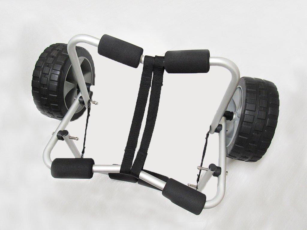 x1 68KGキックスタンド付き折りたたみカヤックトロリー - ヘビーデューティトップカヌーサップカートの上に座る   B07DQQYWGB