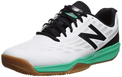 New Balance Mens 796v1 Hard Court Tennis Shoe White/neon Emerald 5 ...