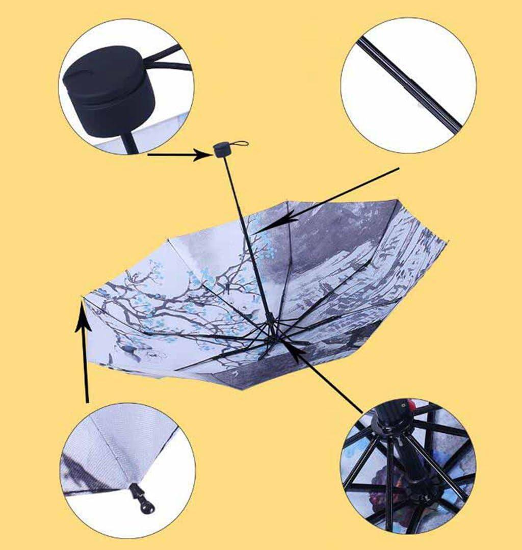 Ultralight Parasol Folding Umbrella 55x96cm Kaxima Umbrella UV Protection Chinese Style Sunny Umbrella