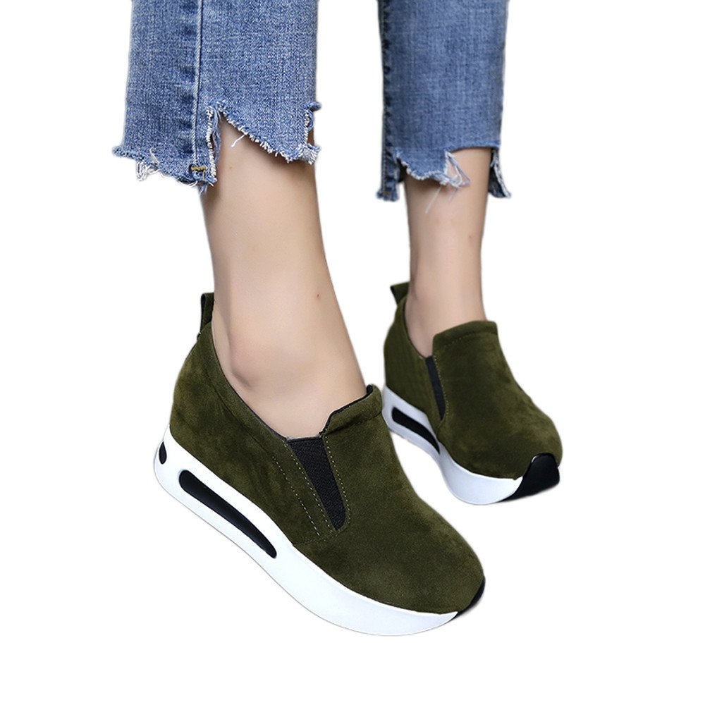 Yesmile chaussure Femmes Chaussures, de Voyage armée Voyage de Printemps pour D Femmes Slip-on Thick-Soled Flock Style Casual Shoes Vert D armée befd0fa - latesttechnology.space