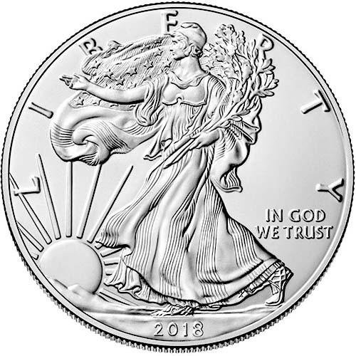 2018 American Eagle One Ounce Silver Bullion Dollar Uncirculated