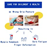 Pencil Grips for Kids Handwriting Silicone - Pencil Grips Posture Correction Training Writing Aids Claw for Kids Adults Students Special Needs Lefties or Righties