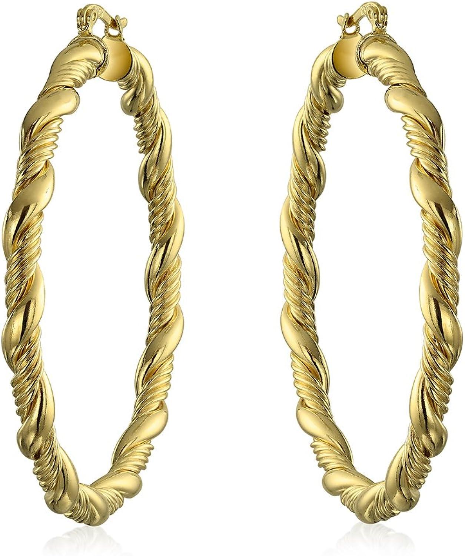 18K GOLD FILLED two-tone FILIGREE SOLID WOMENS GIRLS MINI HOOP SLEEPER EARRINGS