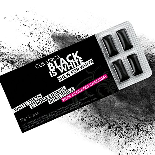 Black is White Charcoal Whitening Gum (3 Pack)