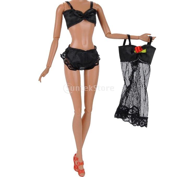 F Fityle 6 Sets Verano Playa Vestido de Baño Traje de Baño Bikini de Muñecas Pijamas Chica Amante Regalo Barbie: Amazon.es: Juguetes y juegos