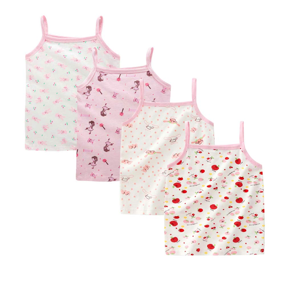 Bossail 1-6 Years Kids Soft Cotton Toddler Undershirt 2-5 Pack Little Girls Camisole Tank Tops