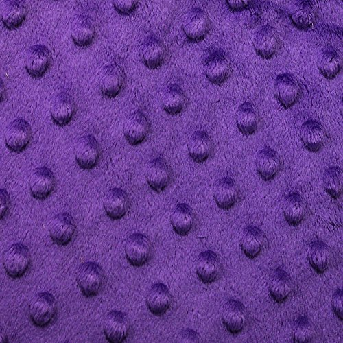 "Purple Minky Cuddle Dimple Dot Fabric, 60"" Inches Wide – Sold By The Yard (FB)"