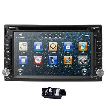 Amazon com: hizpo 6 2 Inch Universal Double 2 Din in Dash Car CD DVD