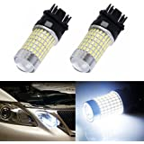 XT AUTO 2x 1200 Lumens Extremely Bright White 144 SMD 3157 3156 T25 Back Up Reverse Tail LED Light Bulbs