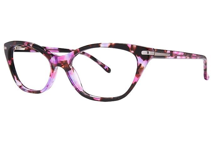 99f243994da Amazon.com  Lulu Guinness Women s L 904 Black 53 mm Eyeglasses