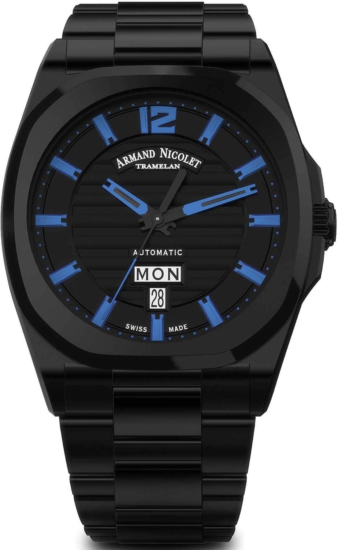 Armand Nicolet J09-2 - Reloj de Pulsera para Hombre, analógico, automático, A650AQN-NA-MA4650NA: Amazon.es: Relojes