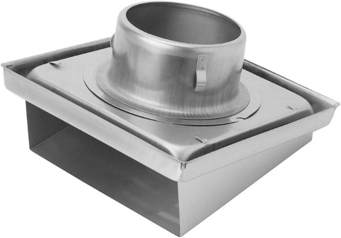 Yuhong-Vents Aire de la Pared de la Rejilla, difusor conductos de ventilación de la Cubierta, Extractor de Salida lumbreras Pared Lateral y Techo (Product Size : Dia.125mm)