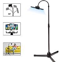 Tripod Stand Holder Adjustable 360° Swivel Phone Pad Lazy Stand Holder Bracket Floor Rack Black for 3.5-12.5 Inch Tablet…