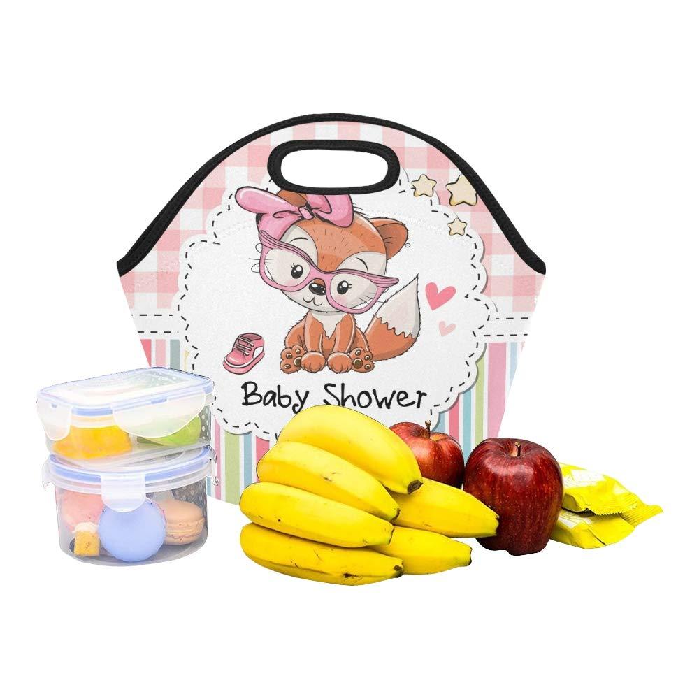 Isolierte Neopren-Lunchpaket-Babyparty-Gruß-Karten-nette Karikatur-große wiederverwendbare thermische starke Mittagessen-Taschen-Taschen für Mittagessen-Kästen für im Freien arbeiten Büro Schule