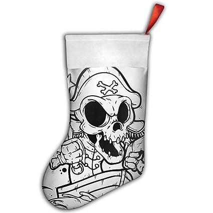 Cartoon esqueleto Piratas Funny medias calcetines Navidad para niños diseños personalizado feliz Navidad