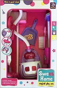 مجموعة التنظيف تحتوي على مكنسة كهربائية، مكنسة طويلة يدوية ، مكنسة صغيرة ، اسفنج، ممسحة، سلة نفايات، مقلاة الغبار)- بنات - JIN JLA TAI