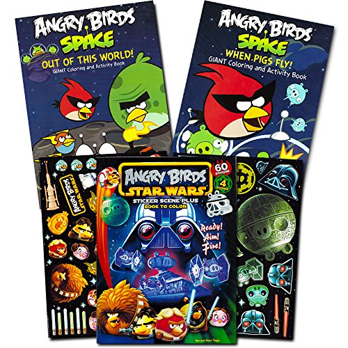 Angry Birds Coloring Stickers Piggies