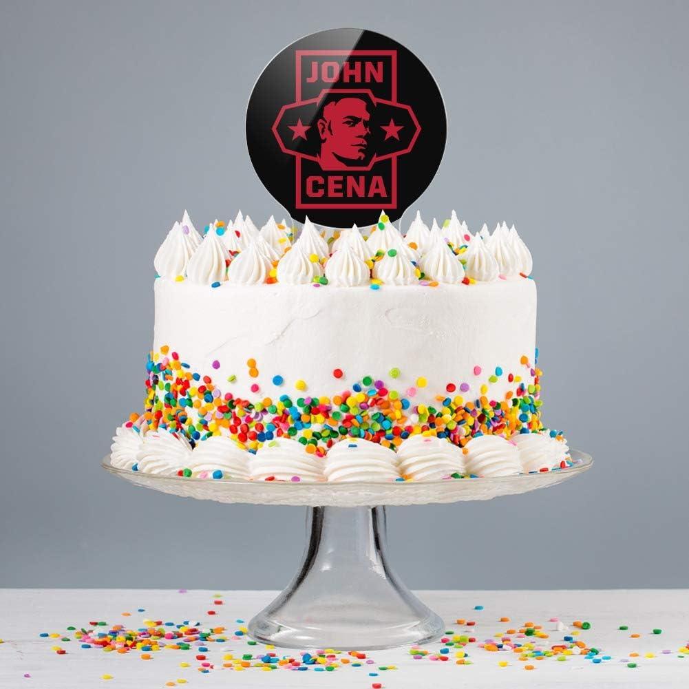 Fine Amazon Com Graphics More Acrylic Wwe John Cena Star Cake Topper Personalised Birthday Cards Veneteletsinfo