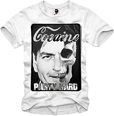 E1SYNDICATE T-SHIRT CHARLIE SHEEN BREAKING BAD PARTY HARD COCAINE DOPE S-XL: Amazon.es: Ropa y accesorios