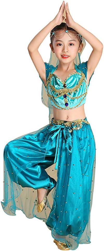 Zhuowei Disfraz Anime India Ropa Danza del Vientre Traje, Aladdin ...