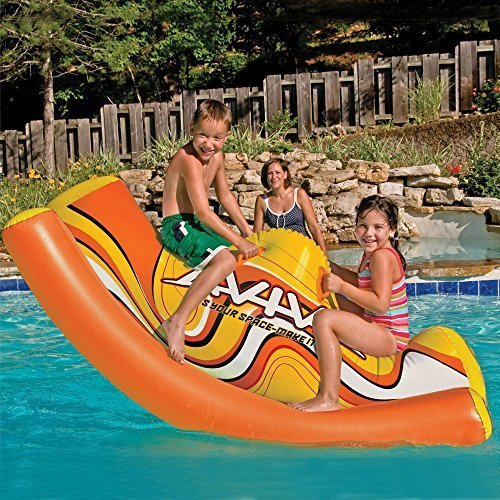 Kids Durable Inflatable See-Saw Pool Toys. Inflatable Floats Toys Pool River Lake Water Swimming Pool Tube FUN Pools Sea-Saw SeeSaw SeaSaw by Aviva ()