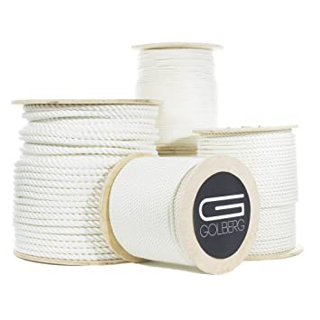 SGT KNOTS Twisted Nylon Rope 1//4 inch - 2 inch Black or White Multipurpose Utility Line 10 ft - 1200 ft Crafts Dock Lines and Heavy Loads Chemical Alkali and Weather Resistant Towing