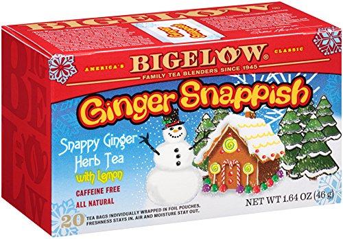 Bigelow Ginger Snappish Herbal Tea, 164-Ounce Boxes (Pack of 6), 120 Tea Bags Total