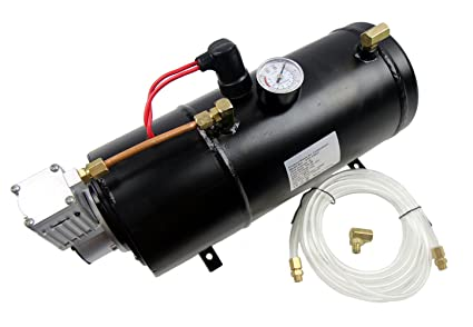 SUNDELY 24V 3 Liters Air Compressor Tank Kit for Train Horn 150 PSI with Built-