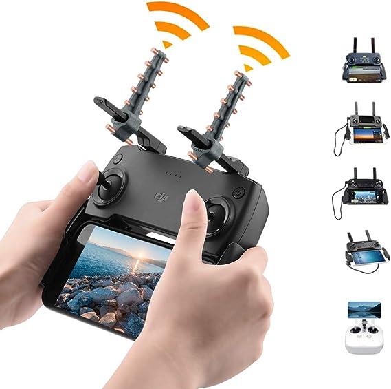 Owoda Yagi UDA Antena Amplificador Silicona Plegable Rango de señal Extensor Accesorios de Control Remoto para dji Mavic Air /Mini / Spark/ Mavic 2 ...