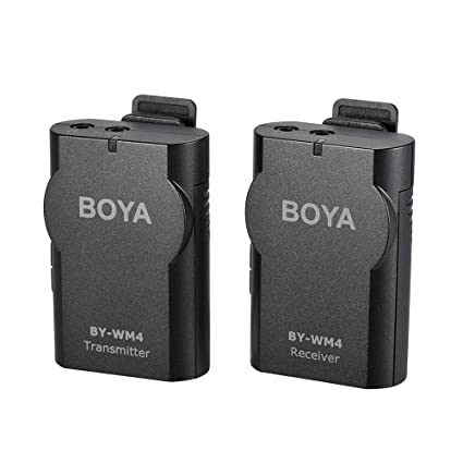 Buy Boya 2 4 GHz Wireless Lavalier Lapel Mic with Support Real-time