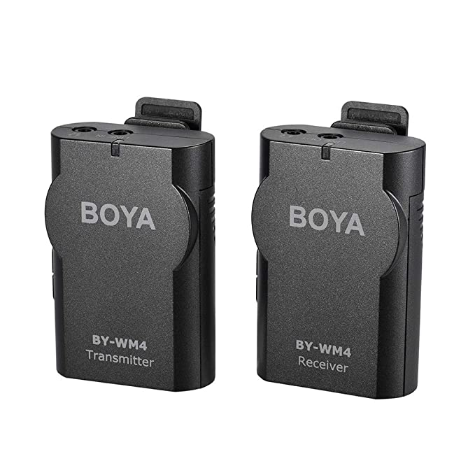 Boya By Wm4 24ghz Wireless Lavalier Lapel Mic Microphone System