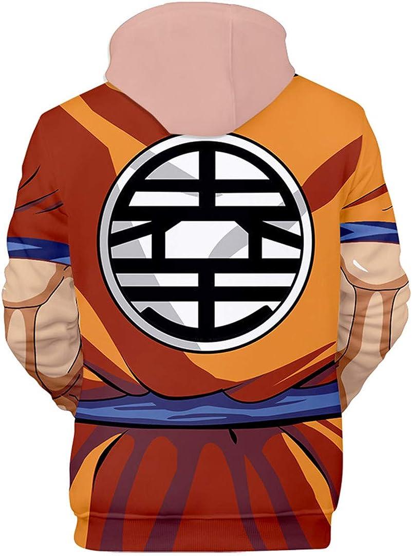Silver Basic Super Goku Felpa con Cappuccio e Pantaloni Dragon Ball Cosplay Vestiti Maniche Lunghe Casual Seta