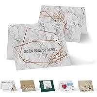 Partycards 50 Tischkarten/Platzkarten DIN A7 für Hochzeit, Geburtstag oder weitere Veranstaltungen (mit verschiedenen Motiven)