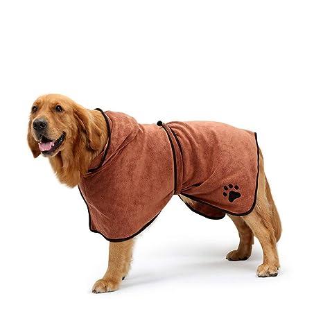 PETCUTE Perro Toalla Toalla Perro Albornoz Toga Perro Toalla Perro Absorbente Pijamas Pequeño Mediano Tamaño Grande