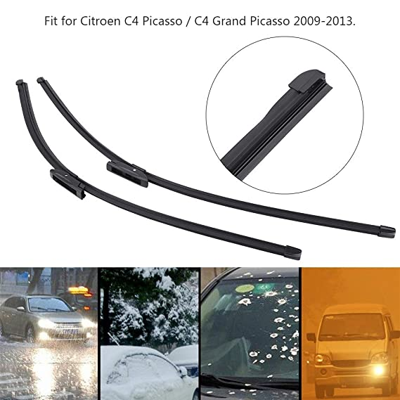Limpiaparabrisas - Frente Limpiaparabrisas izquierda y derecha para Citroen C4 Picasso / C4 Grand Picasso 09-13 2Pcs: Amazon.es: Coche y moto