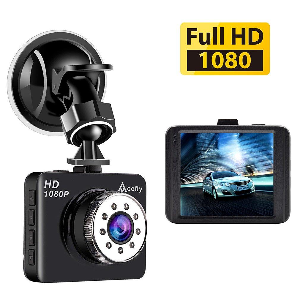 Dash Cam, Full HD 1080P Dash Camera 2.7' LCD Car Camera Dashboard Camera with 120 Degree Wide Angle G-Sensor Loop Recording Parking Monitor Accfly
