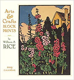arts crafts block prints w s rice 2019 calendar