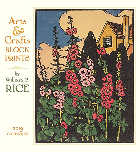 Books : Arts & Crafts Block Prints - W. S. Rice 2019 Calendar
