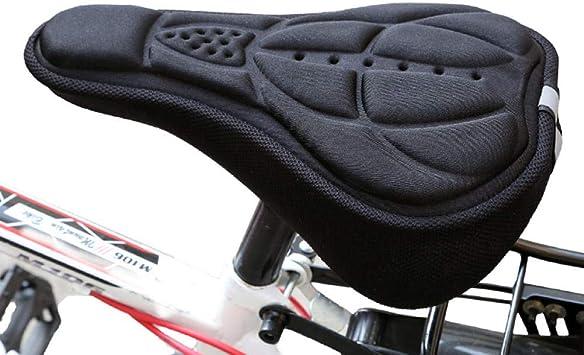 LKXOOD Funda Asiento Bicicleta Estática Relleno Gel Almohadilla ...