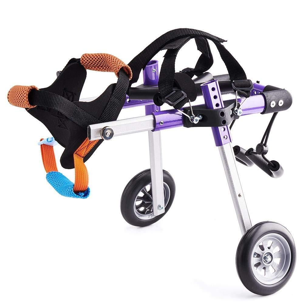 2-wheel Dog Wheelchair Hind Limb Recovery Disabled Elderly Dog Auxiliary Hind Leg Bracket Walking Assistant Car Disabled Cat And Dog Kit XS