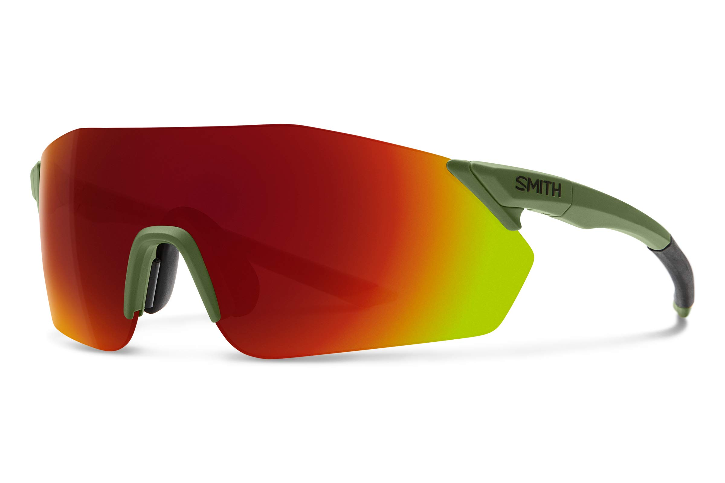 Smith Reverb Chromapop Sunglasses, Matte Moss, Chromapop Sun Red Mirror/Contrast Rose