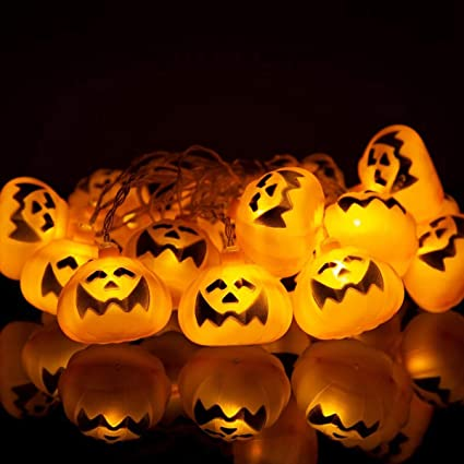 Halloween Pumpkin Flashing LED Jack-O-Lantern Night Light