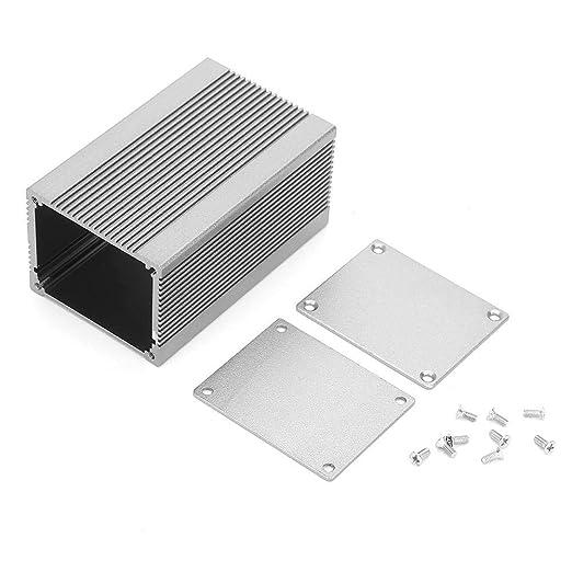 25 spessore del deflettore da 1,5 mm per amplificatore di potenza a dissipazione del Custodia di raffreddamento in alluminio fai-da-te da 25 100 mm scatola di progetto in alluminio
