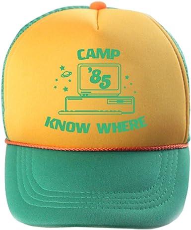 2019 Dustin Hat Retro Mesh Trucker Cap Stranger Camp Know Where Things Cap New