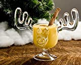 Holiday Glassware Christmas Moose Mug Set of 10 - Safer Than Glass