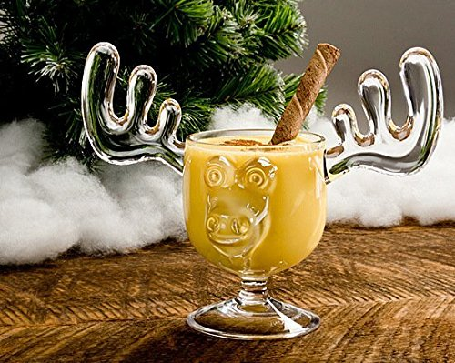 Holiday Glassware Christmas Moose Mug Set of 10 - Safer Than Glass by A&R Collectibles