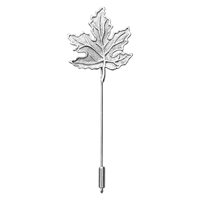 336ae88d6414 Buy FURE Rhodium Silver Maple Leaf Lapel Pin for Men and Women Online at  Low Prices in India | Amazon Jewellery Store - Amazon.in